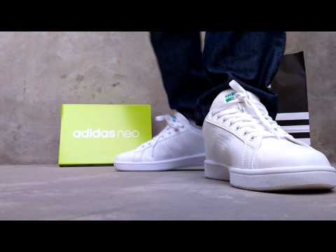 Adidas Cloudfoam Advantage Clean  White/green
