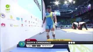 Women 53KG A Clean & Jerk 2014 World Weightlifting Championships