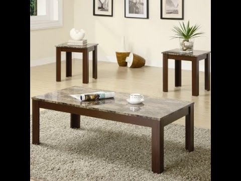 Coaster Fine Furniture 700395 3 Piece Coffee Table And End Table Set