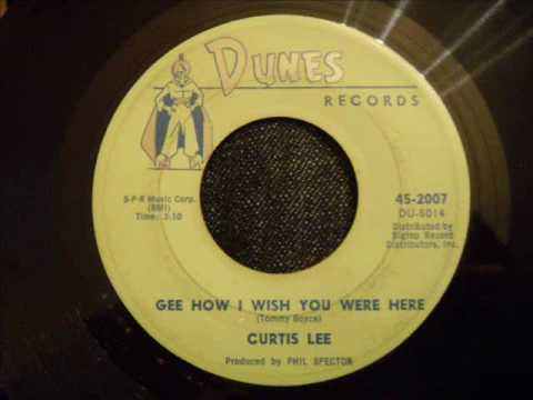 Curtis Lee and The Halos  Gee How I Wish You Were Here  Beautiful Doo Wop Ballad