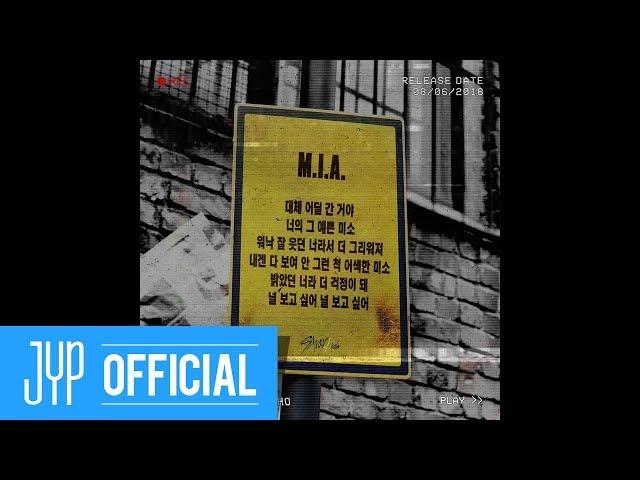 "Stray Kids 2ND MINI ALBUM ""I am WHO"" Inst. Lyric Card 6 ""M.I.A."""