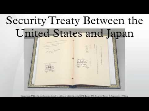 Security Treaty Between the United States and Japan