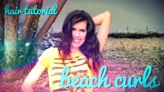 HAIR TUTORIAL Beach Curls Thumbnail