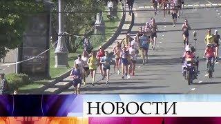В столице произошли изменения движения транспорта в связи с Московским полумарафоном.