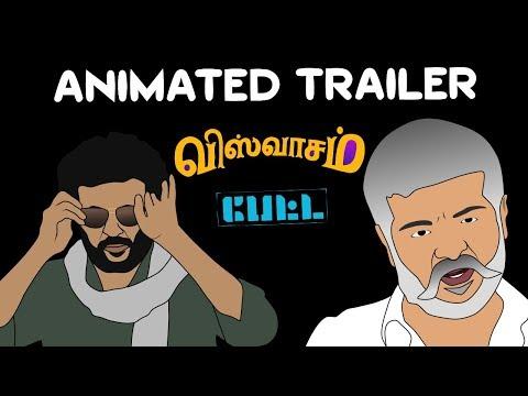 Petta | Viswasam | Animated Trailer Mix | Rajinikanth | Ajith Kumar | Thalaivar | Thala