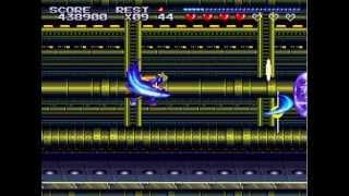 Sparkster SNES - Stage 9 & Hard Ending