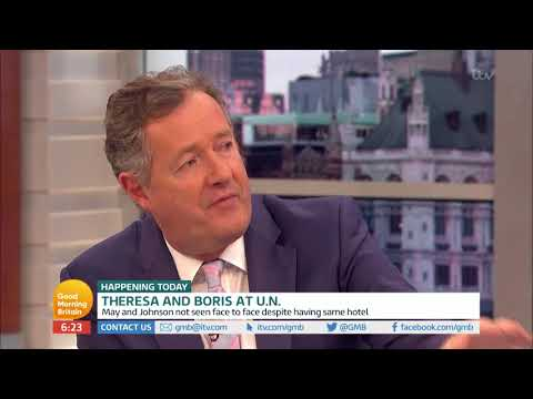 Theresa May and Boris Johnson Together at U.N. | Good Morning Britain