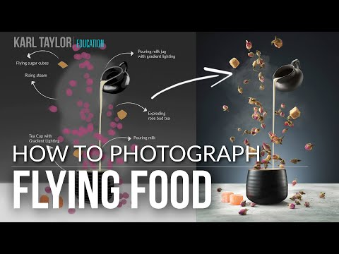 Food Photography - How to Photograph Flying Food Images
