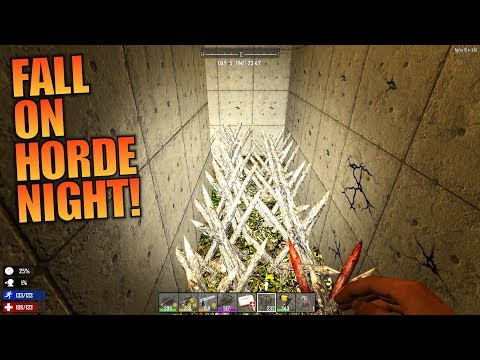 FALL ON HORDE NIGHT! | GNAMOD 7 Days to Die | Let's Play Gameplay Alpha 16 | S01E05