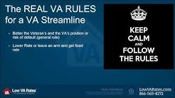VA Streamline Refinance Program Rules