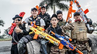 LTT Game Nerf War : Couple Warriors SEAL X Nerf Guns Fight Inhuman Suicide Squad SWAT