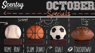 Scentsy Warmer & Scent Of The Month, October 2015 - Sport's Warmers & Toffee Butter Crunch