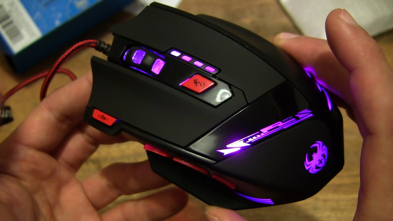 8bdc128a665 VicTsing Zelotes T-90 8000 DPI Gaming Mouse - YouTube