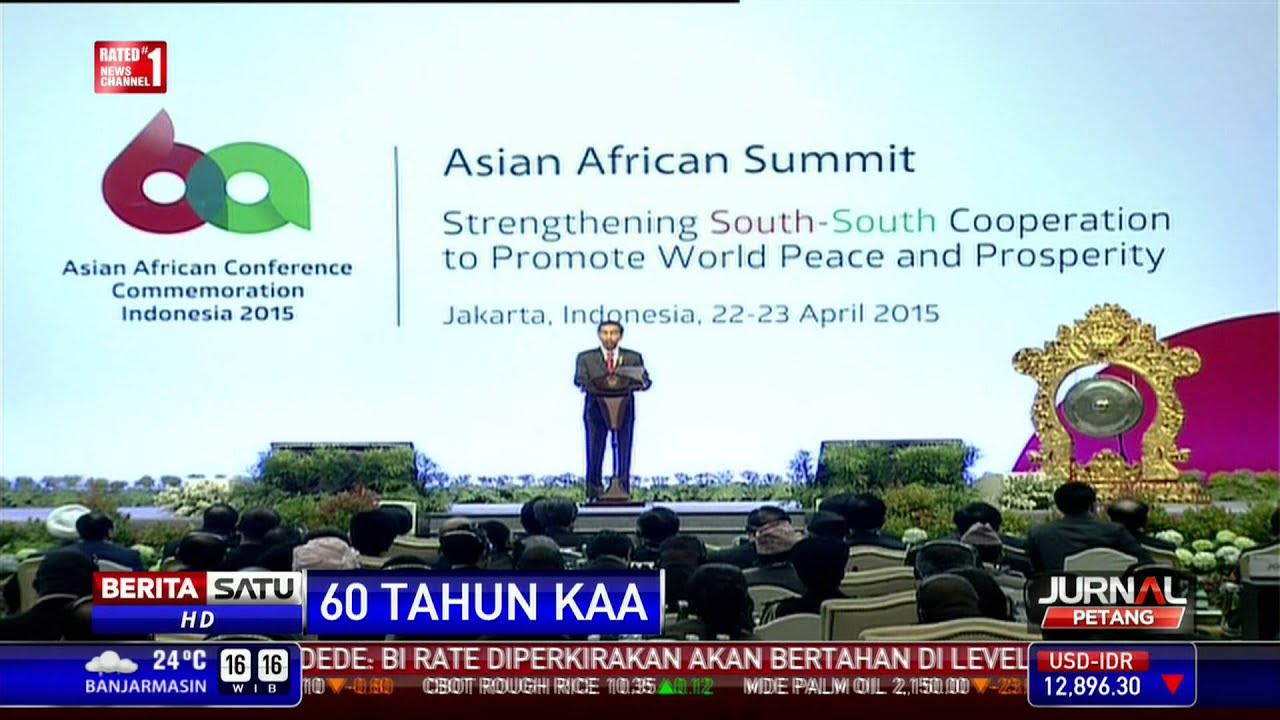Jokowi Ajak Asia Afrika Dukung Palestina Merdeka - YouTube