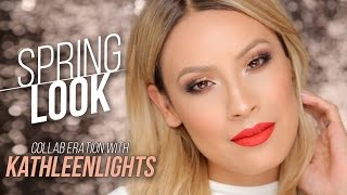 Night Out Spring Makeup Look - KathleenLights COLLAB!!!