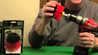 Bathroom Cleaning Brush - Drill Brush
