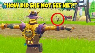 So I pretended to be a Scarecrow in Fortnite... LIKE and SUB if you...