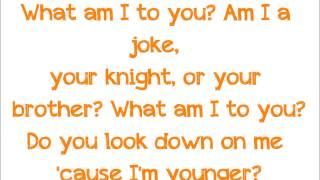 What am I to you -Adventure Time Lyrics