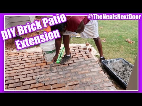 Brick Patio Extension – DIY Landscaping