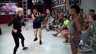 sydney leroux and megan rapinoe visit the ultimate fighter