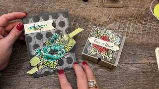 How to watercolor a flower with a Shabby Chic Background