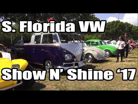 Classic VW BuGs South Florida Fort Lauderdale Show N Shine 2017 VW Beetle Event