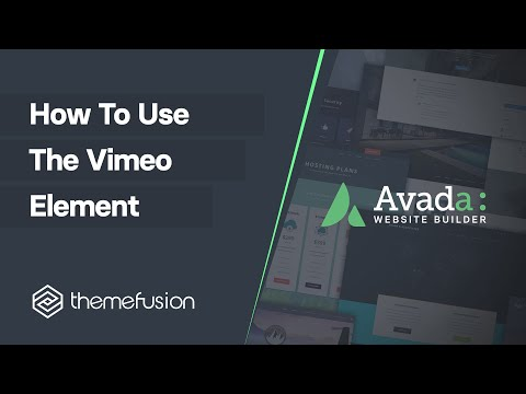 How To Use The Vimeo Element Video