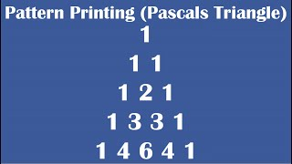 C Practical and Assignment Programs-Printing Pascals Triangle