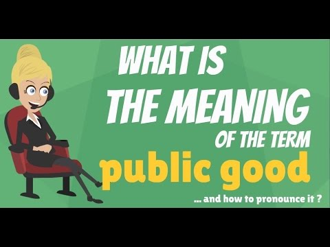 What is PUBLIC GOOD? What does PUBLIC GOOD mean? PUBLIC GOOD meaning, definition & explanation