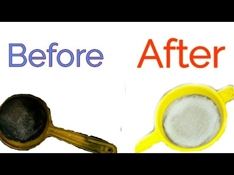 How to clean very dirty tea strainer in minutes