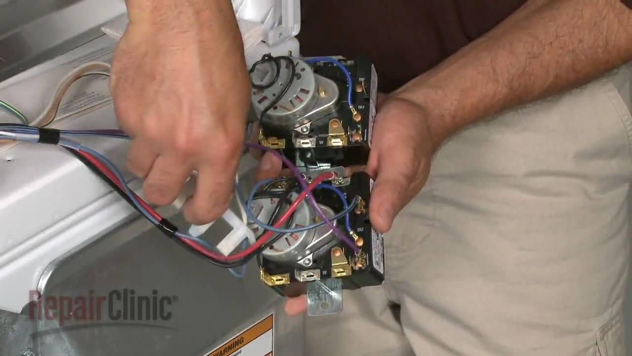 maxresdefault whirlpool kenmore electric dryer timer assembly 8566184 youtube Kenmore 110 Dryer Schematic at gsmportal.co