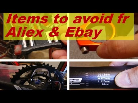 honest review! bike items to avoid from Aliexpress & Ebay!! cheap fake chinese stuffs!