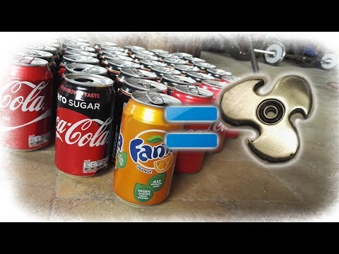 Casting Fidget Spinner Of Soda Cans