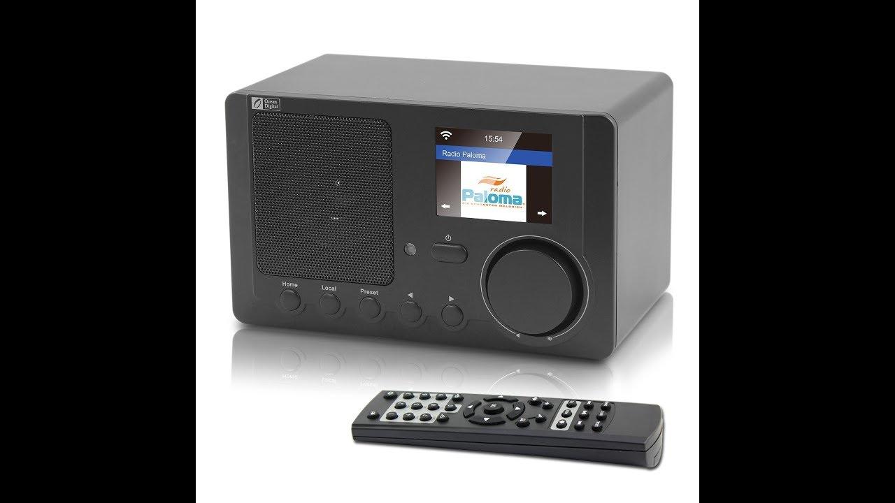 WR-210CB Ocean Digital Internet Radio Review - YouTube