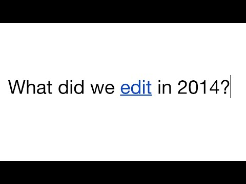 El año visto a través de los ojos de Wikipedia