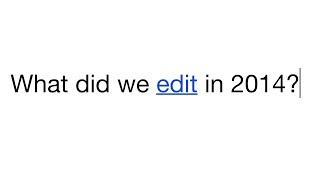 Wikipedia: #Edit2014