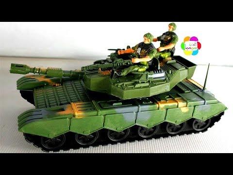 اكبر لعبة دبابة حقيقية جديدة للبنات والاولاد اجمل العاب حربية للاطفال real kids tank toy game