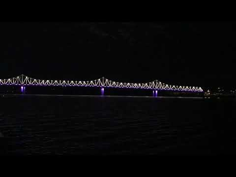 Lighting of the Murray Baker Bridge in Peoria, IL