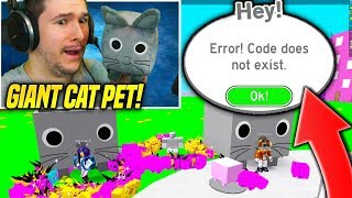 *EMOTIONAL* I Got The GIANT CAT PET in PET SIMULATOR But THIS HAPPENED... (Roblox)