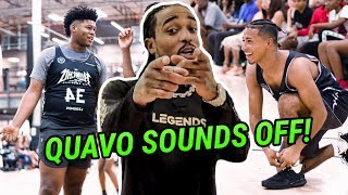 """Stop The Clock!"" Quavo MIC'D UP & Coaching Julian Newman, Kyree Walker & JAYGUP 😱"