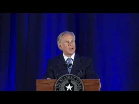 Texas Governor Greg Abbott At The 2016 NF Conference-Forum Joint Dinner