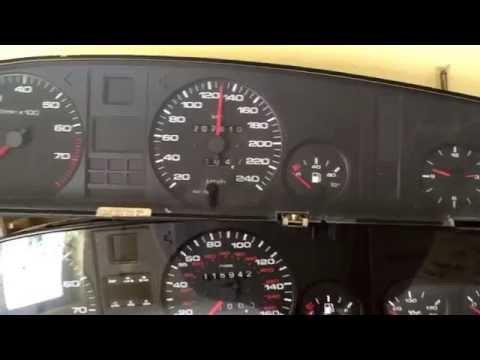 Kombiinstrumente Audi 100 200 V8 Unterschiede Erkennungsmerkmale