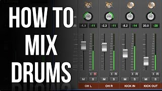 Part 1: Levels and Panning   HOW TO MIX DRUMS