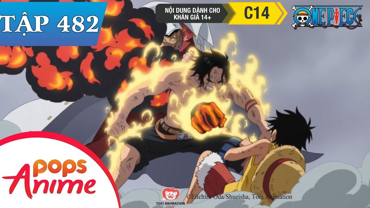 One Piece Tập 482 – Sức Mạnh Đốt Cháy Cả Lửa. Sự Tàn Độc Của Akainu – Đảo Hải Tặc
