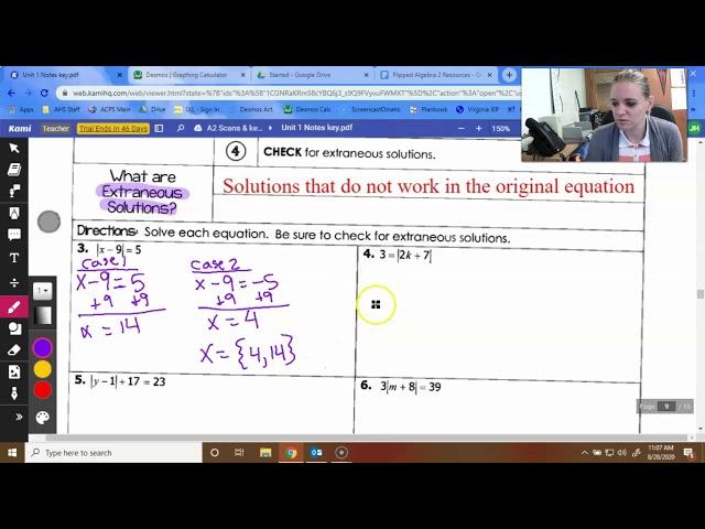 Algebra 2: Solving Absolute Value Equations