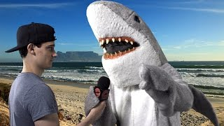 Shark Attacks Surfer (verbally)