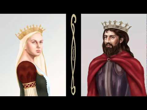 The Faces of Ines de Castro & Pedro I of Portugal (Photoshop Art)