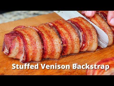 Stuffed Venison Backstrap   Grilled Venison Deer Recipe on Traeger Grills