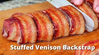Stuffed Venison Backstrap | Grilled Venison Deer Recipe on Traeger Grills