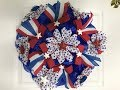 Learn how to make a deco mesh Patriotic Ribbon Flower Wreath